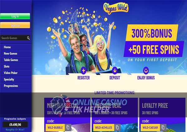 Vegas Wild Homepage